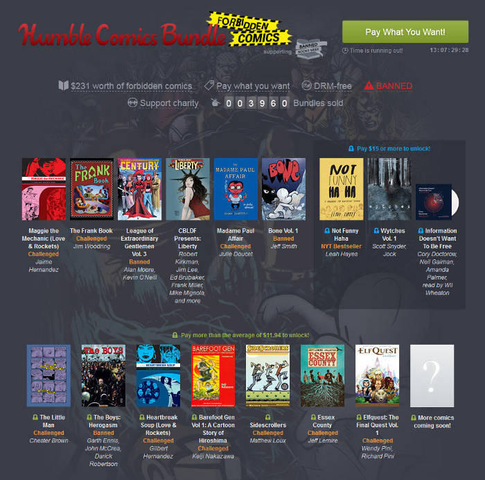 Forbidden Comics im Humble Bundle