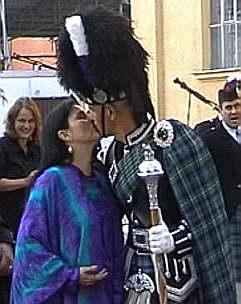 Ein Küsschen für den Schotten